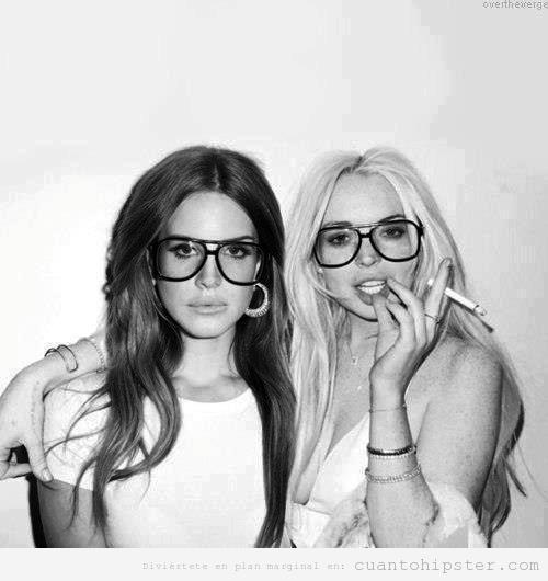 Lana del Rey y Lindsay Lohan con gafas de pasta