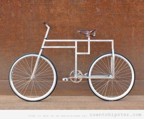 Bicicleta hipster con cuadro original