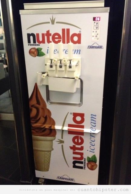 Máquina de helados Nutella