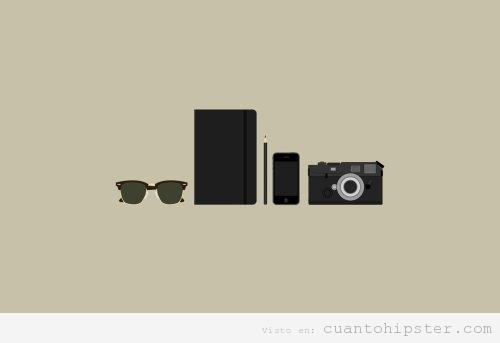 Wallpaper con elementos hipsters
