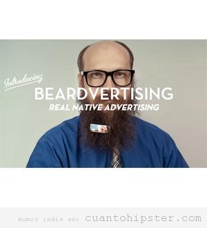 Barbas de hipster para poner publicidad, beardvertising