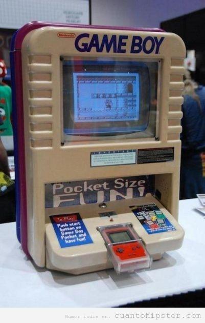 Pantalla retro para jugar a la Game Boy