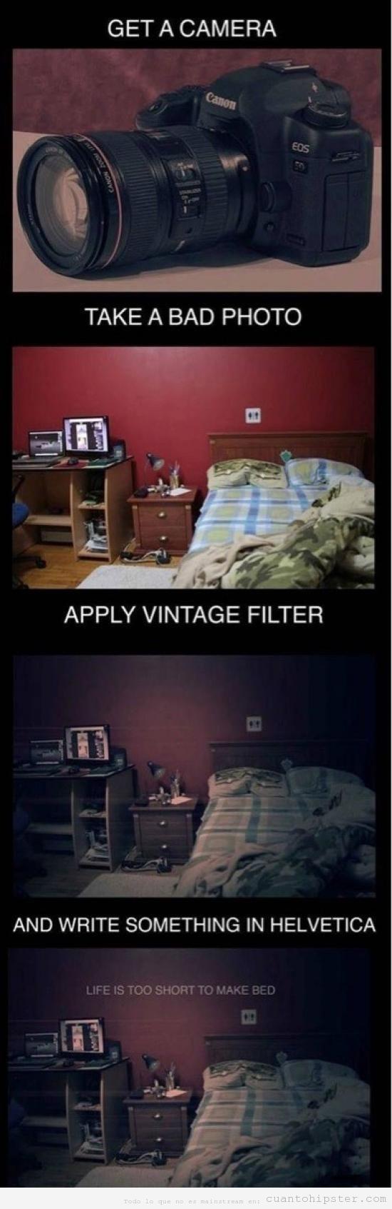 Cómo convertir una foto fea en hipster