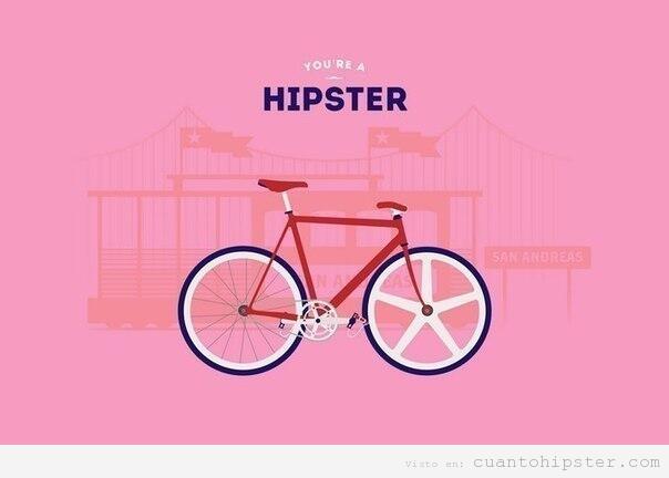 Cartel con una feria y una biciclta, you're a hipster