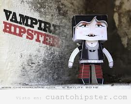 Muñeco cartón Vampire Hipster