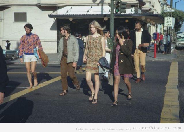 Hippies y hipsters en San Francisco, primavera 68