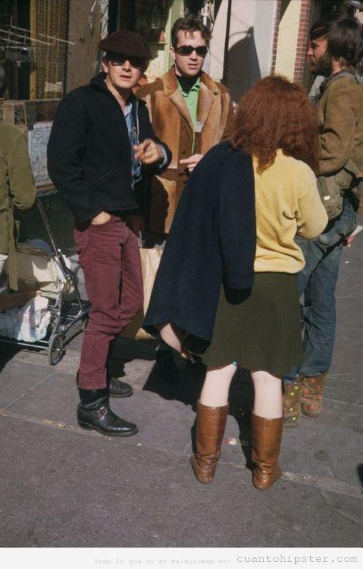 Foto antigua de jóvenes en San Francisco, 1968