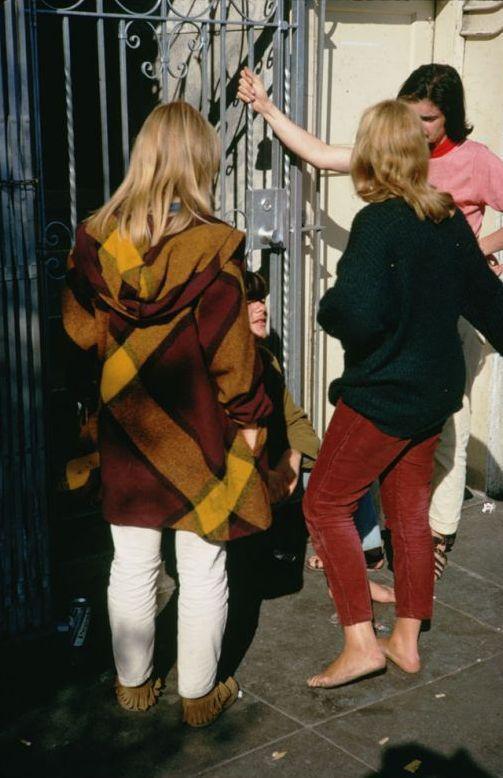 Fotos de chicas hippies en San Francisco 1968