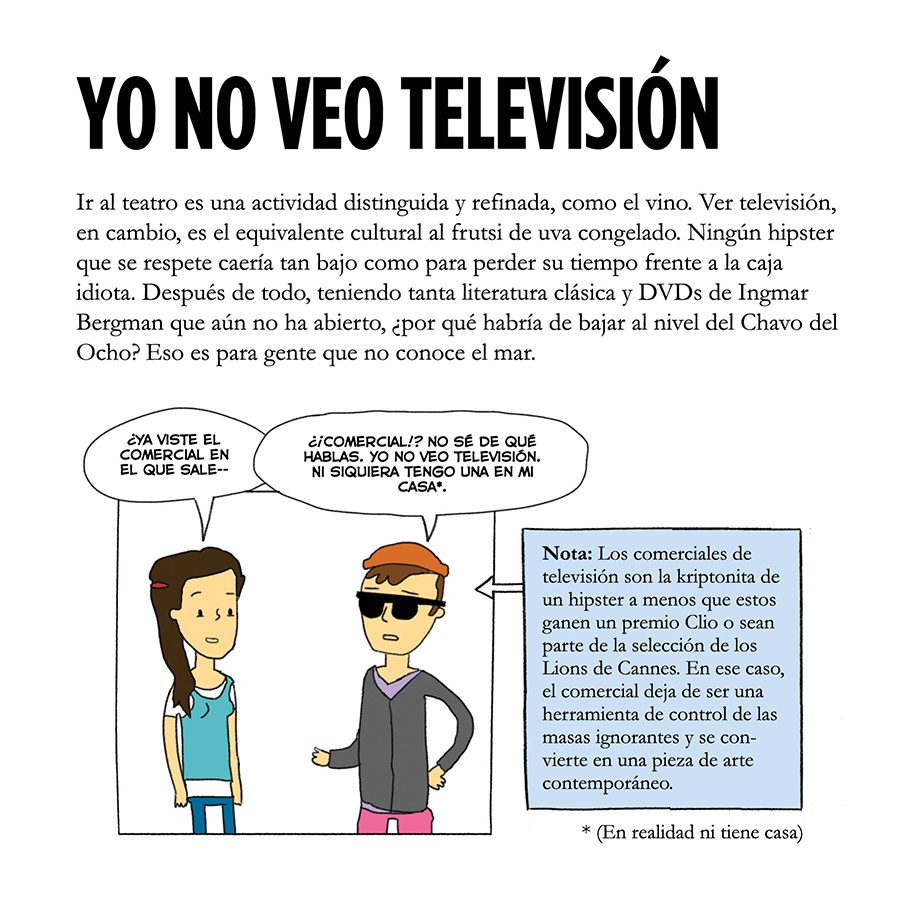 Viñeta graciosa sobre hipsters by Jorge Pinto