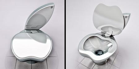WC para hipster con forma de manzana de Apple