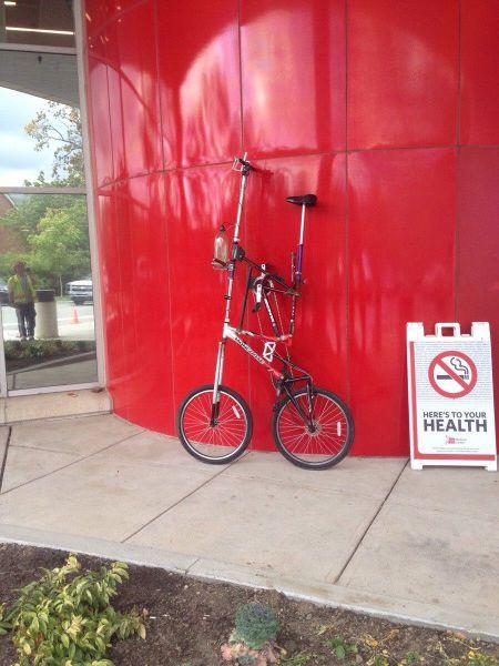 Bici hipster tuneada con dos pisos