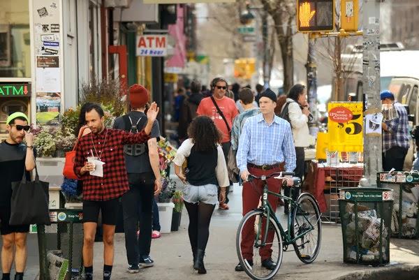 Ciudad llena de hipsters