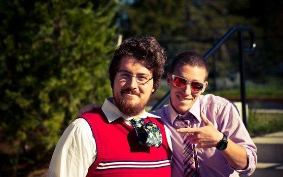 Foto chico con corbata hipster