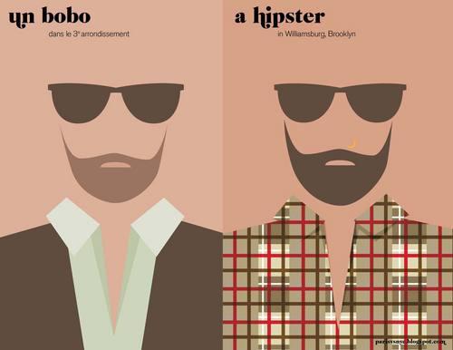 Humor gráfico, equivalente de hipster en Francia