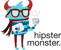 Dibujo de un monstruo hipster