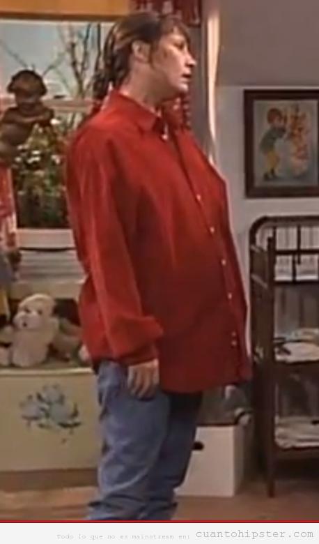 Jackie de la serie Roseanne con look hipster