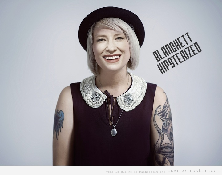 Kate Blanchet look hipster