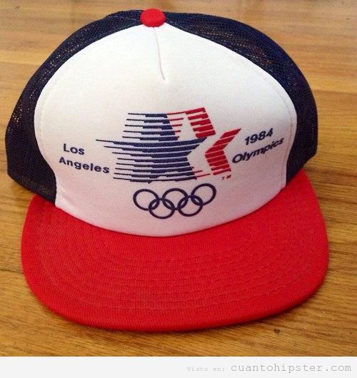 Gorra vintage de Olimpiadas Los Angeles 1984