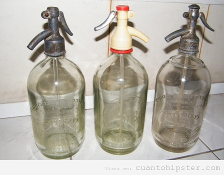 Botellas sifón antiguas
