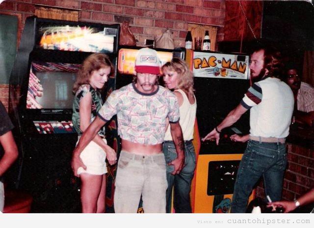 Foto de los años 80 en las máquinas recreativas
