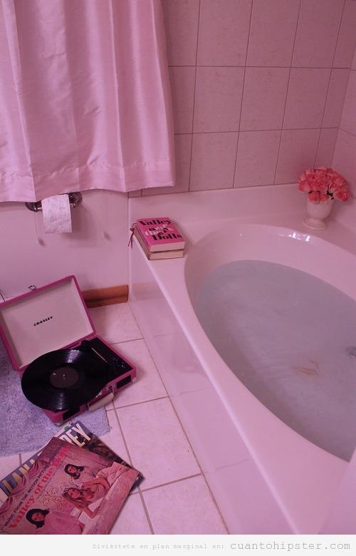 imagen de un baño vintage, años 60