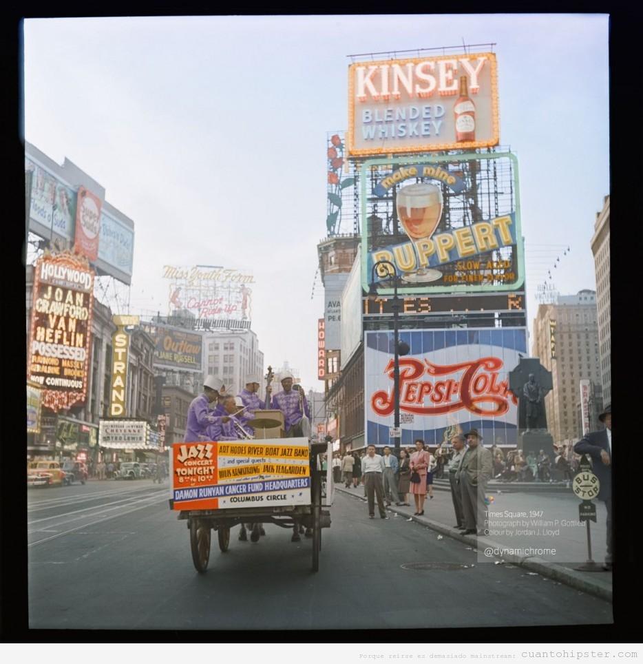 Foto antigua de Times Square