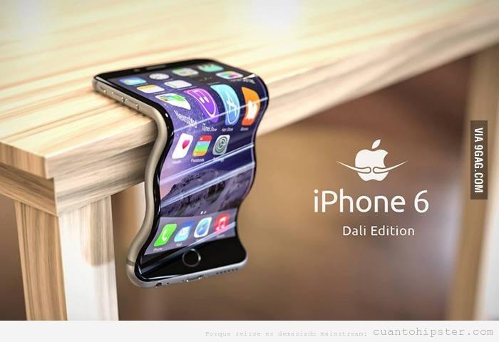 Fotomontaje iPhone 6 plus edición Dalí