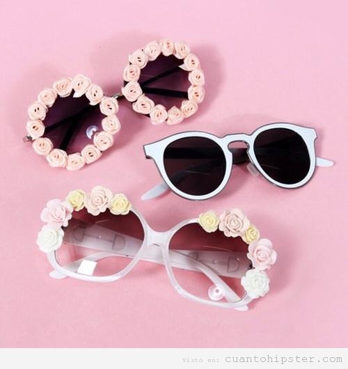 Gafas de sol hippies y vintage para chicas