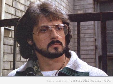 Sylvester Stallone en Halcones de la noche, look hipster