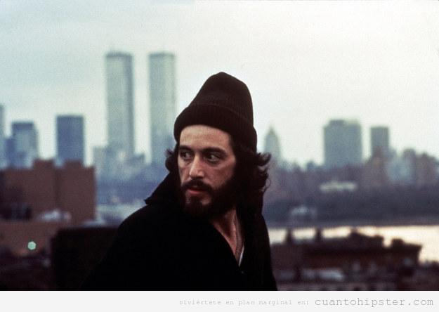 Al Pacino en Serpico con look hipster
