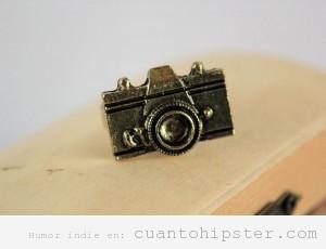 Anillo cámara fotos vintage. regalo original