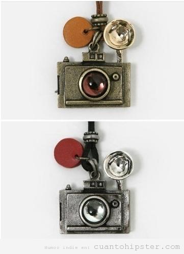 Collar vintage cámara de fotos, regalo original chicas