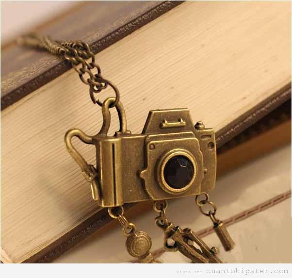 Collar vintage cámara de foto, regalo original