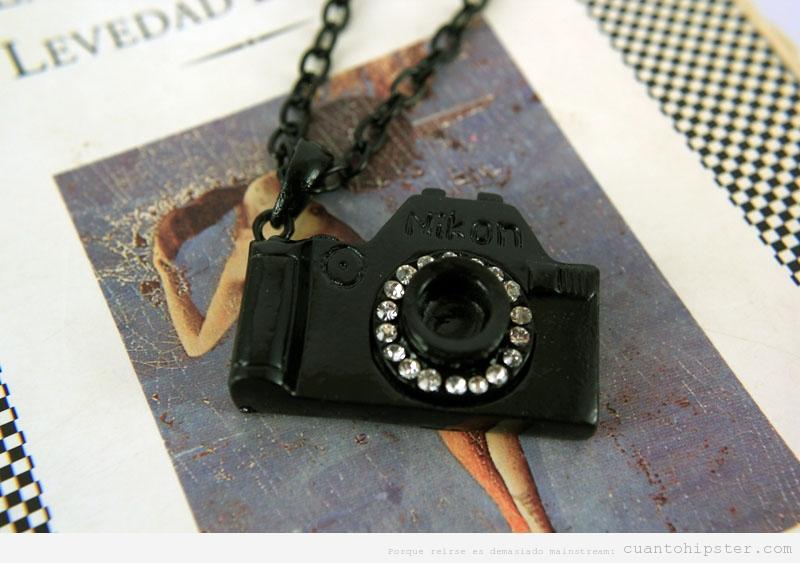 Collar cámara de fotos Nikon, regalo original
