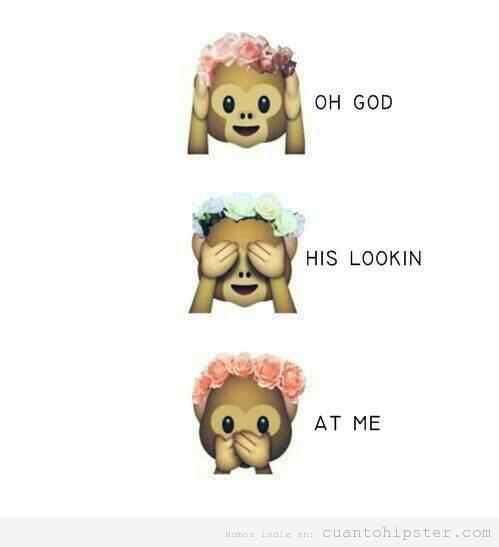 Dibujo gracioso tres monos sabios con corona flores hipster