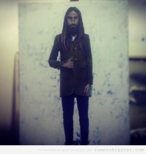 Dibujo de Jared LEto como Jesucristo Hipster