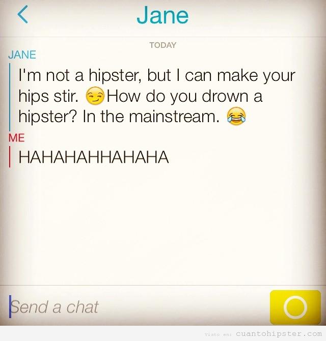 Chiste de hipsters por Instagram