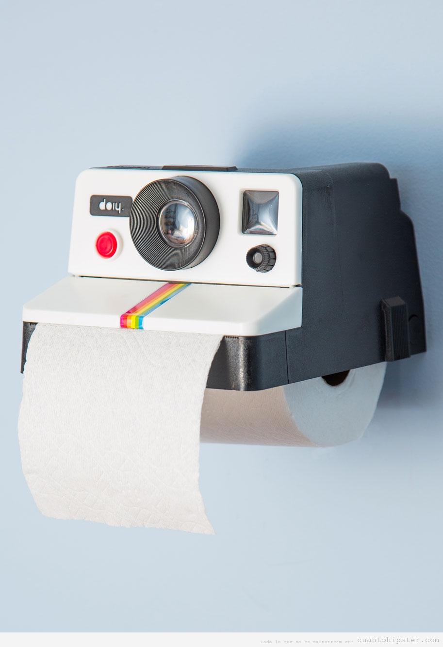 Dispensador papel WC cámara instantánea