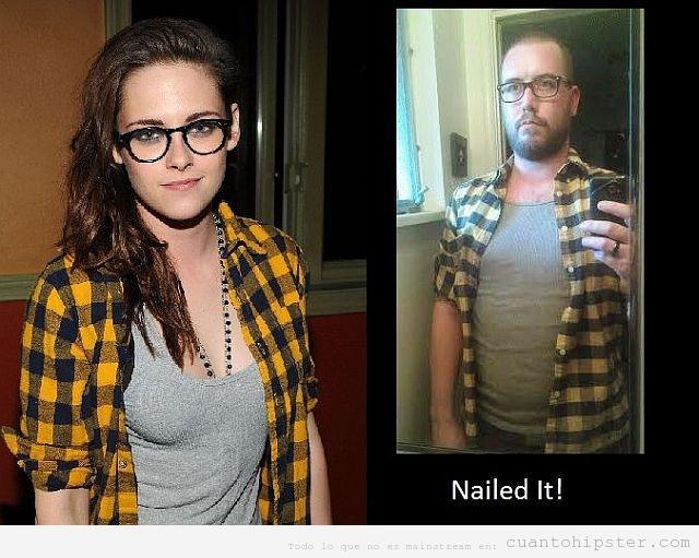 Chico Hipster con el look de Kristen Stewart