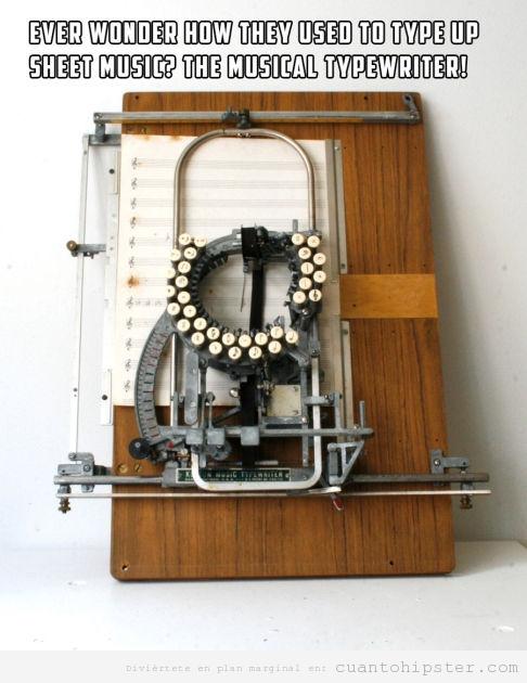 Máquina escribir notas musicales en pentagrama