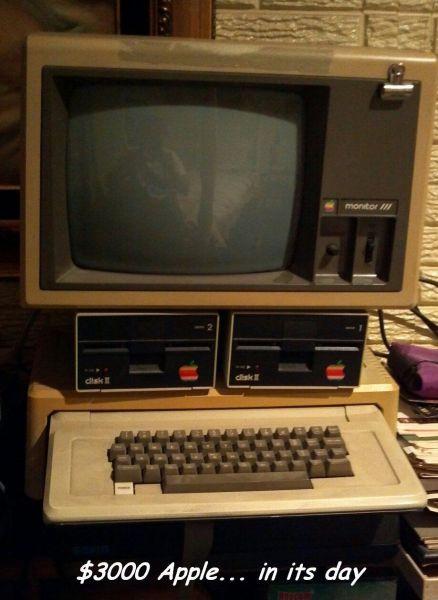 Foto de un ordenador Apple de los años 80