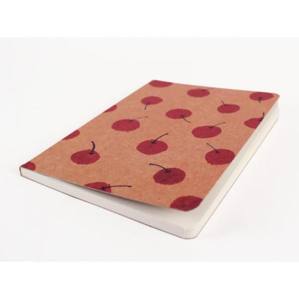Cuaderno vintage estampado cerezas