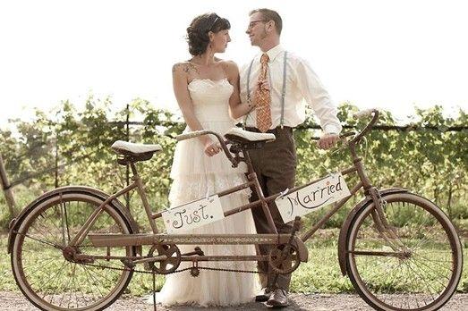 Tandem boda hipster