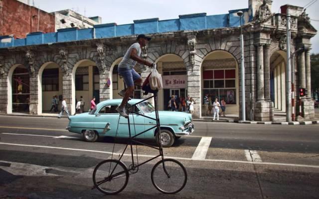 Foto de una bicicleta de cuatro pisos