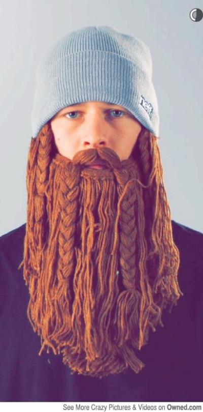 Gorro con barba hipster