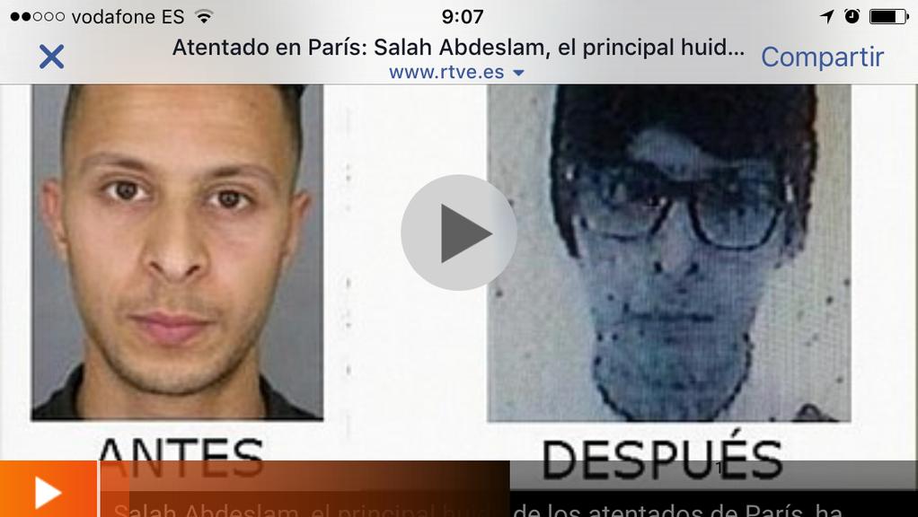 Salah Abdesalam, terrorista ataques París, con look hipster