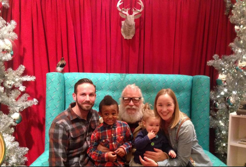 Santa Claus Hipster en Portland