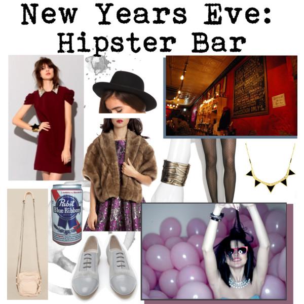 Nochevieja bar hipster, ropa y accesorios