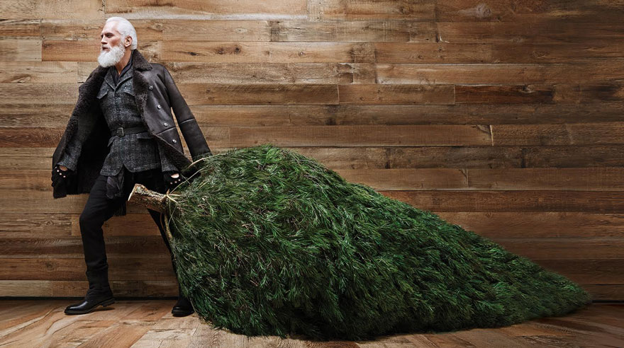 Sexy Santa Claus con look hipster