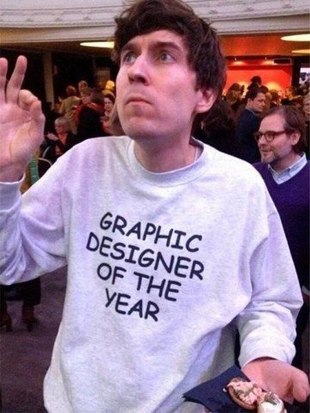 Diseñador gráfico del año, sudadera con tipografía Comic Sans